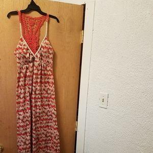 Women's hi low sleeveless maxi sundress